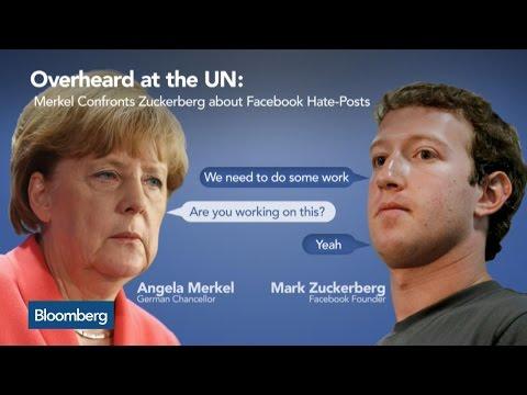 Angela Merkel Confronts Facebook's Mark Zuckerberg On Hate-Post Policy