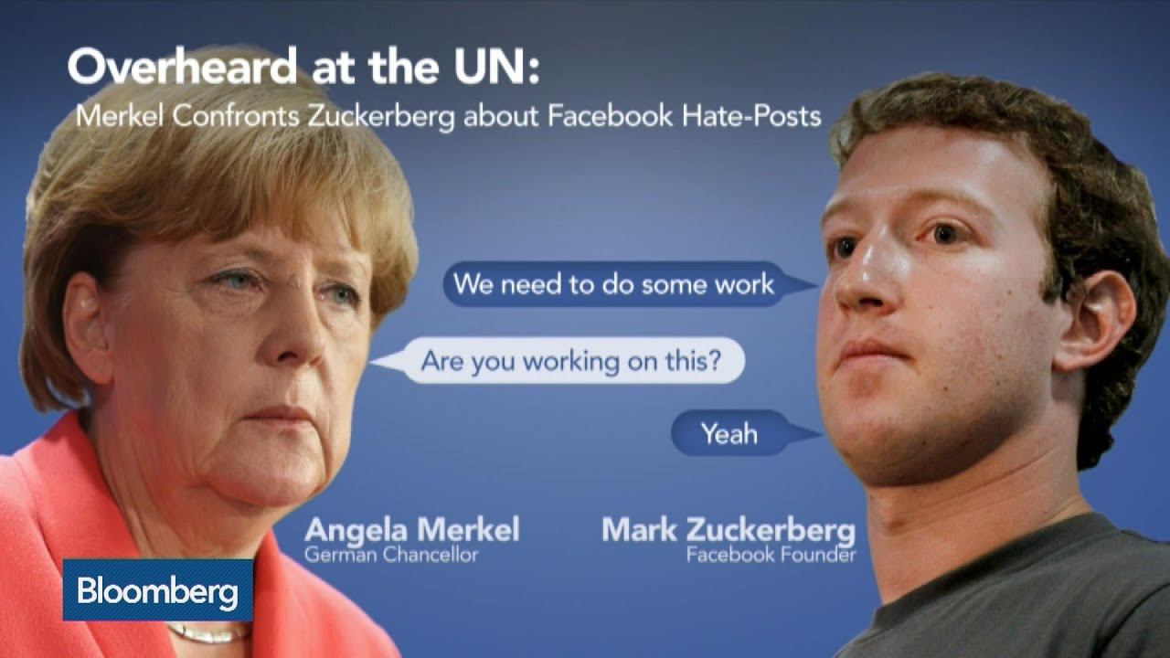 Image result for pics of merkel and zuckerberg at open mic