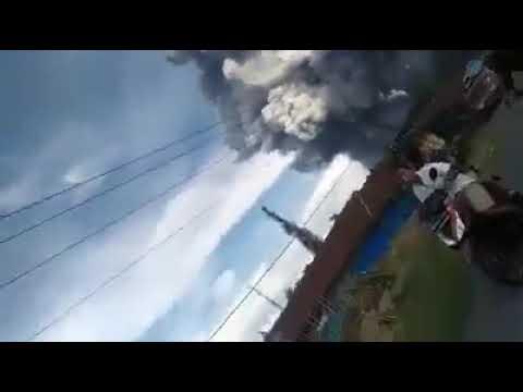 9 June 2019. Sinabung Volcano Eruption. Sumatra, Indonesia.