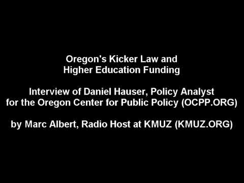 Kicker Law and Higher Education Funding in Oregon - Radio Interview