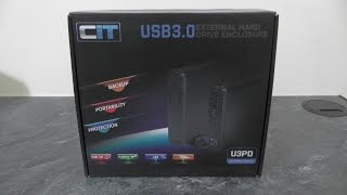 CiT USB 3.0 External Hard Drive Enclosure - Unboxing & setup