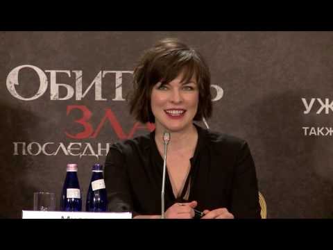 Milla Jovovich And Paul W.S. Anderson Interview At The Moscow RE: The Final Chapter Press Conference