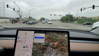 Tesla early beta FSD 2020.40.8.10 Santa Clarita to Pasadena, CA 23 Oct 2020 - Model 3 - Video 1 of 2