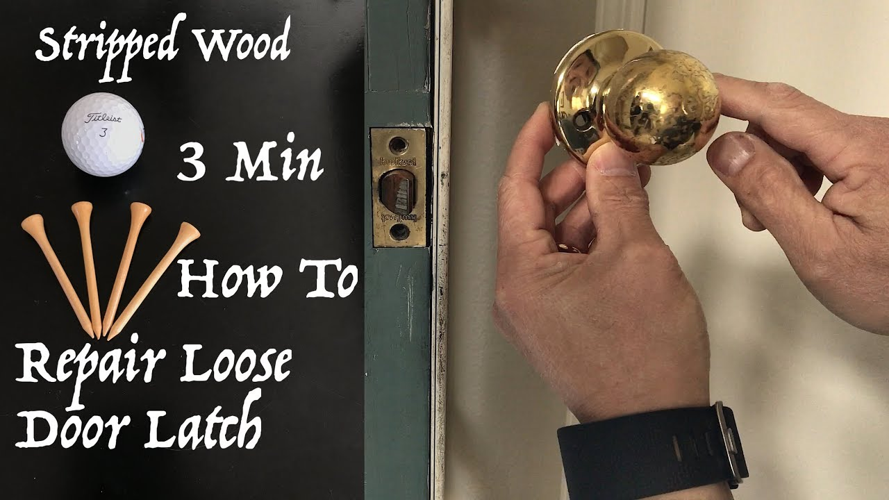 3 Min How To Repair Loose Door Latch Or Strike Plate Due To Stripped Wood  Hole