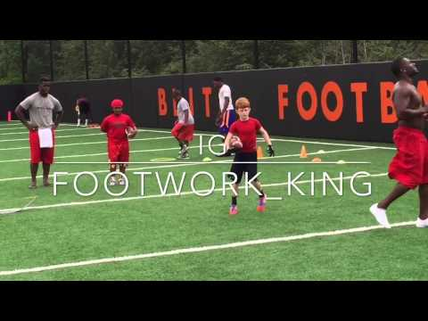 Lil Ced working out at Blitz football camp