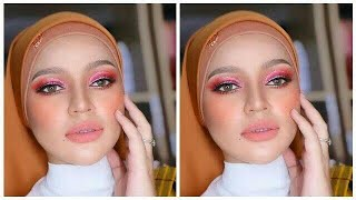 MUA Bellaz : 'Orange + Pink' Cut Crease Makeup, Terlajak Cantik!