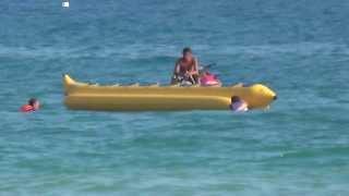 Море. Пляж отеля CLUB INSULA, Аланья, Турция. Катание на банане.(, 2013-09-01T17:52:25.000Z)