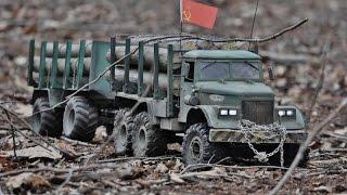 rc axial scx 10 6x6 kraz 255 logging truck in lochem nl