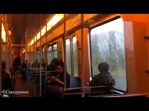 RET Metro rit met uit de jaren 80 metro (type SG2) Rotterdam Schenkel - Schiedam Centrum