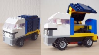 Building a simple LEGO Truck using Classic 10696 (レゴ:トラックの作り方)