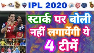 IPL 2020 - List Of 4 Teams Not To Bid On Mitchell Starc In IPL Auction | MY Cricket Production
