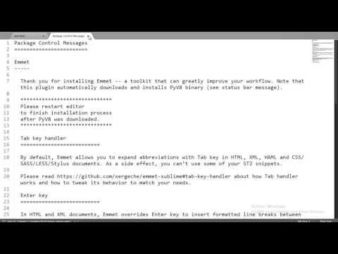 Language Emmet Sur Sublime Text Pour Html5, Ecrire Votre Code Html Et Css En Turbo