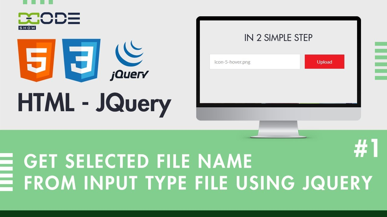 How to Get Selected File Name From Input Type File using jQuery