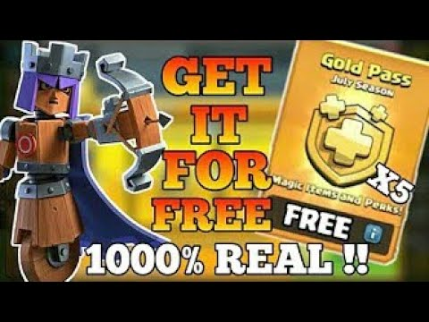 Purchase Free Gold Pass + 10 Gold Pass Giveaway Ll Clash Of Clan