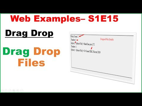 Web Examples S1E15 : HTML5 Drag Drop API - Files