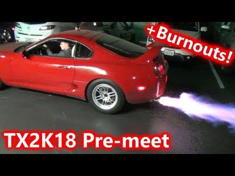 TX2K18 PRE-MEET SHUTDOWN BY COPS! INSANE CAR MEET