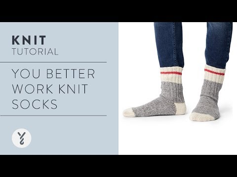You Better Work Knit Socks