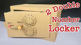 How to Build a Safe with Combination Number Lock from Cardboard