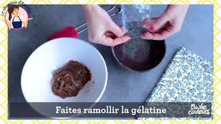 La bûche de Noël marrons-poire-biscuit Granola d'Annelyse