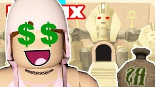 ROBBING ROBUX FROM A CURSED TEMPLE! | Roblox