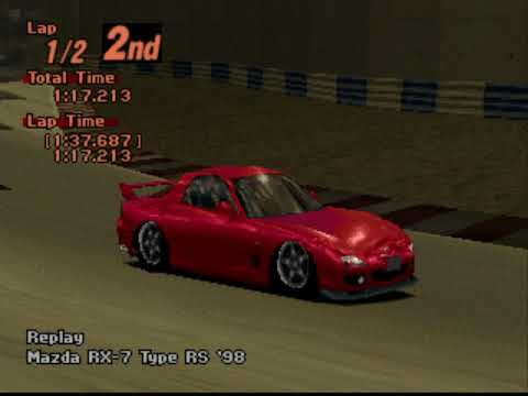 Gran Turismo 2 Arcade - Red Rock Valley Speedway