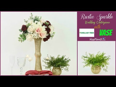 DIY Rustic Glam Wedding Centerpiece | Dollar Tree DIY | DIY Tutorial