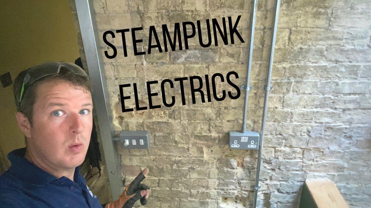 Steampunk Electrics - Installing Steel Conduit & Trunking