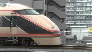 併走バトル 上野東京ラインE231系vs東武日光詣金色スペーシア100系106F