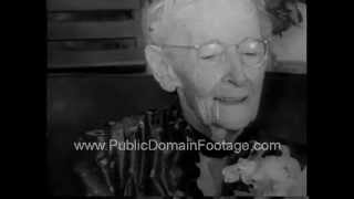 Grandma Moses Dies at 101 years old  PublicDomainFootage.com