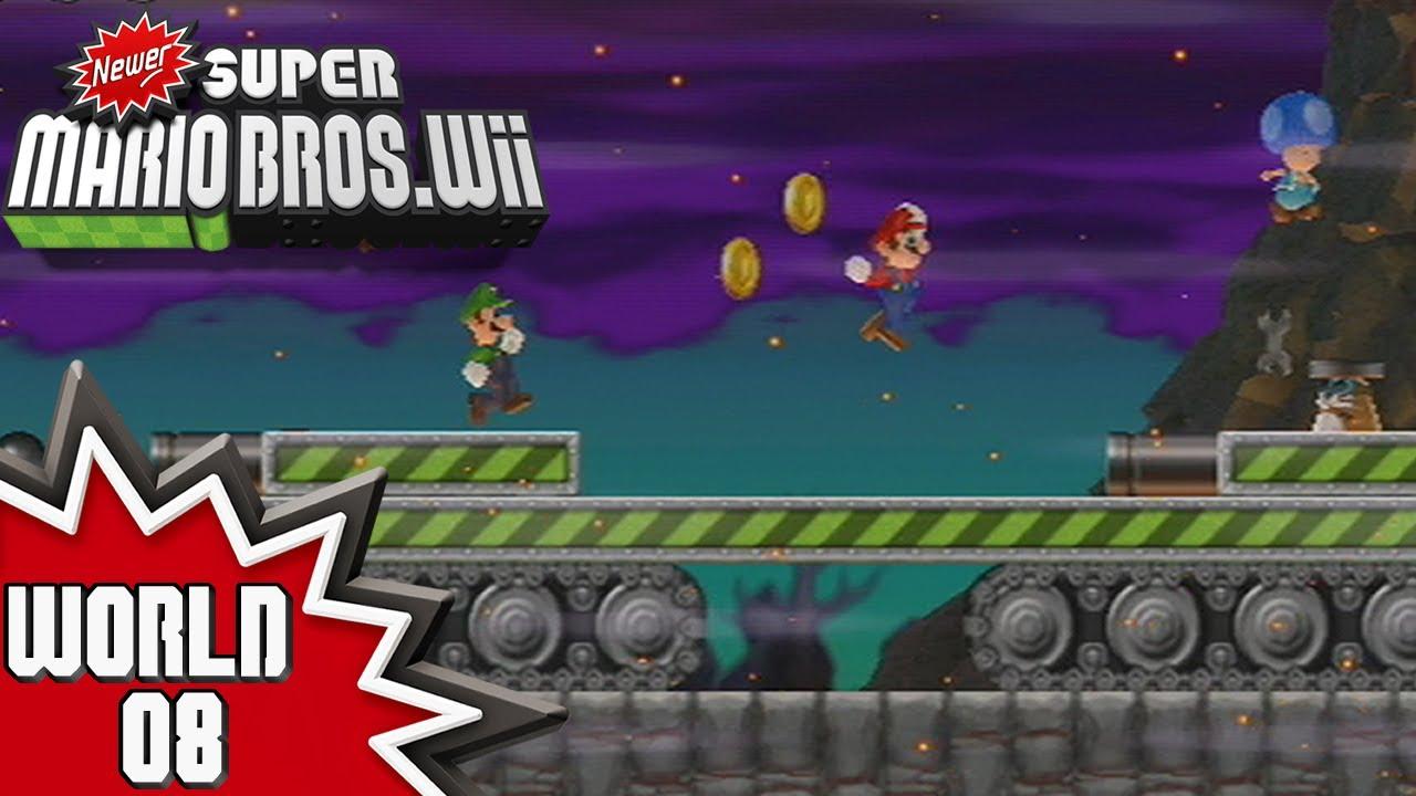 Newer Super Mario Bros Wii World 8 1 4 Youtube