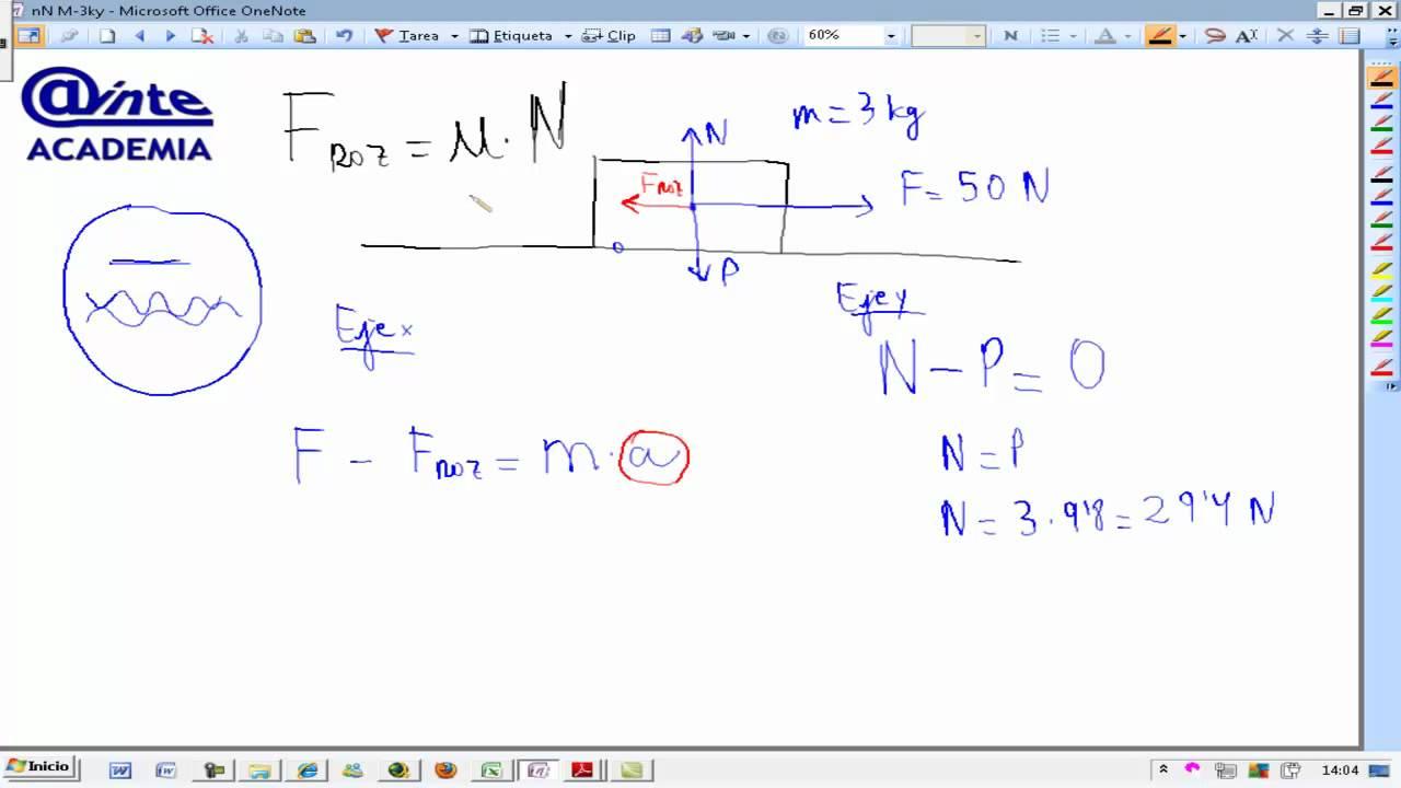 Fuerza de rozamiento Teoria Fisica y quimica 4º ESO AINTE - YouTube
