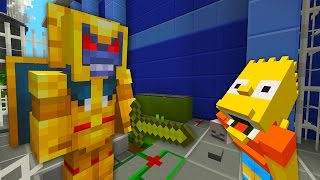 Bart Simpson Turns Into A Vampire Werewolf  | The Simpsons |  Minecraft Xbox [53]