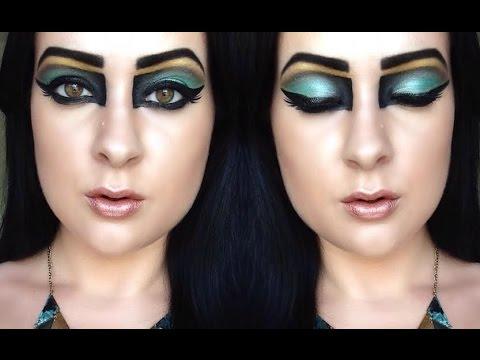 Halloween: Egyptian Queen Makeup Tutorial! - YouTube