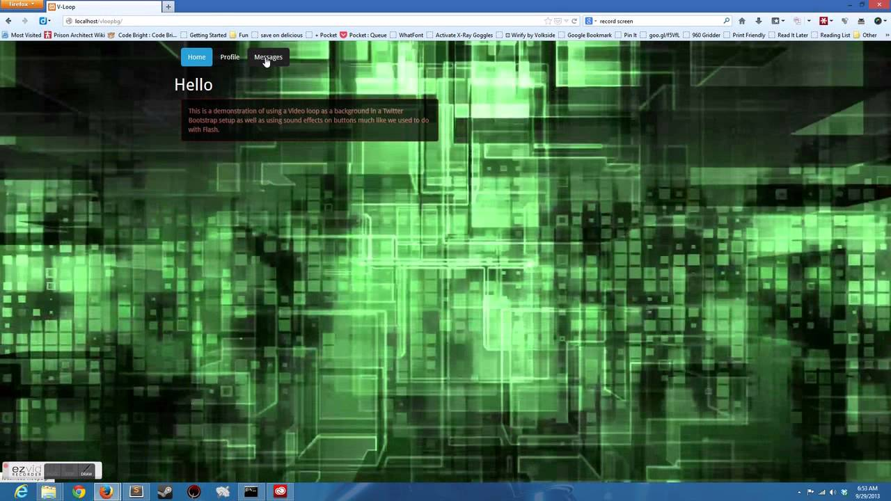 Background image bootstrap - Twitter Bootstrap Background Video Hover Audio