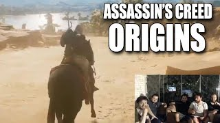 ASSASSIN'S CREED ORIGINS - İLK KEZ OYNUYORLAR! (30 Dakikalık Oynanış Videosu)