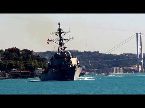 USS Carney transits Bosphorus & enters the Black Sea