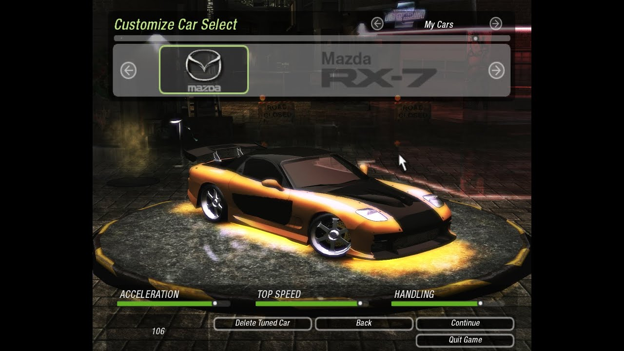 How to make han s rx 7 como fazer o rx 7 do han need for speed underground 2 youtube