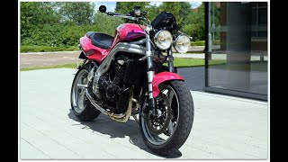 "2001 TRIUMPH SPEED TRIPLE 955i IN TO DIE FOR FACTORY ""NUCLEAR RED"" WITH JUST 9,978 MILES..LOVE IT!"