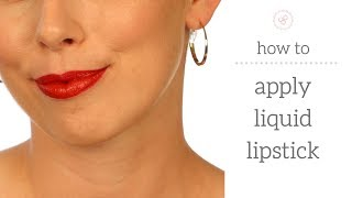 How To Apply Perfect Liquid Lipstick | For Beginners