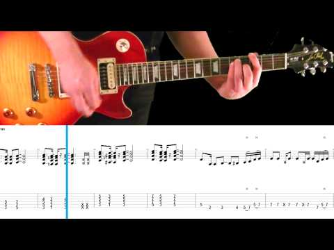 Mr. Brownstone (Slash's Part) Guitar Tab and Play Along - Guns N' Roses