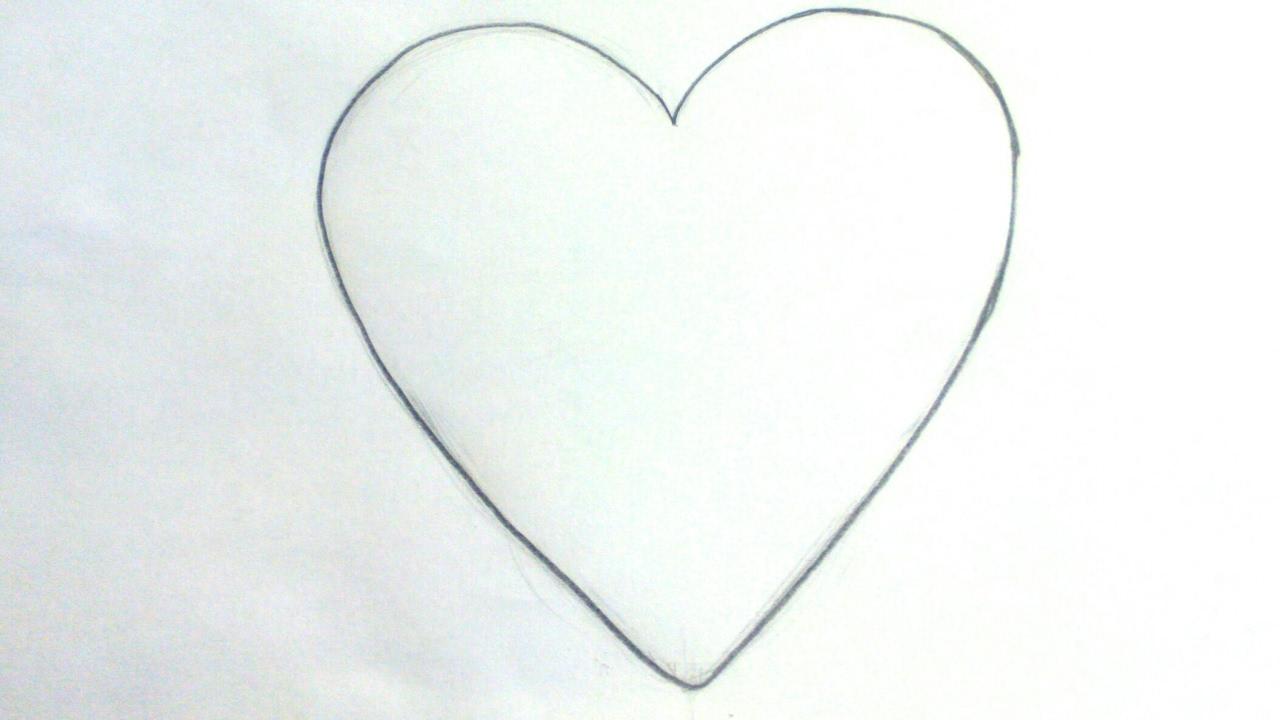 Dibujos De Corazones Cómo Dibujar Un Emoji Corazón A Lápiz Paso A
