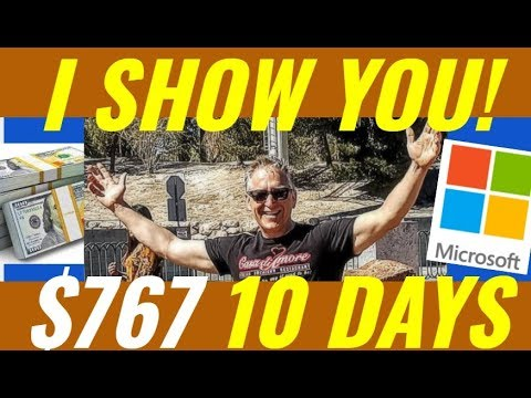I show you my Weekly Covered Calls $767 MSFT trade - I show you how to do it!