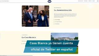 La web de la Casa Blanca ofrece el mismo contenido en inglés que en español, idioma que pasó al olvido hace justo cuatro años, cuando se inauguró la página oficial del Gobierno de Donald Trump