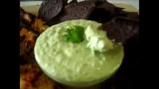 Jalapeno Cilantro Dip - How To Make Jalapeno Cilantro Dip Recipe