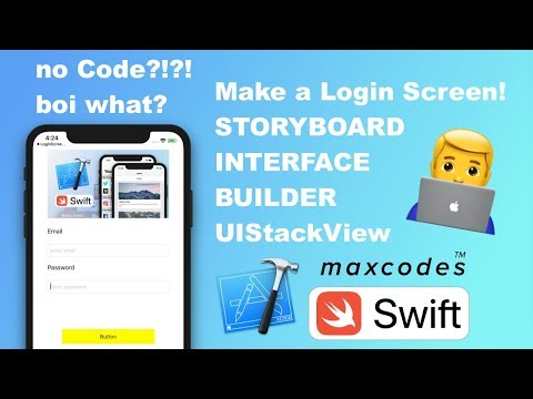 How to build a Simple Login Screen Form in Swift with UIStackView & Storyboards / Interface Builder thumbnail