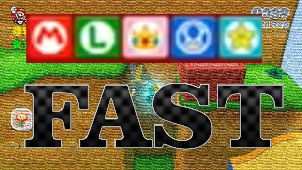 Super Mario 3D World - How To Get 5 Final Stamps FAST ...