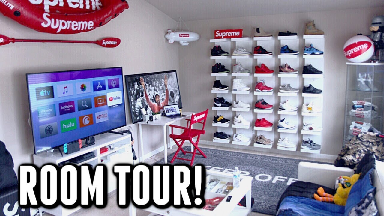 The Ultimate Hypebeast Room Tour 2019 Youtube