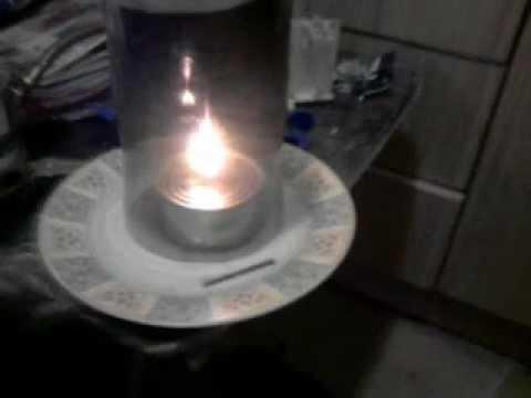 Como hacer una l mpara de aceite usado con dos latas - Como hacer lamparas ...
