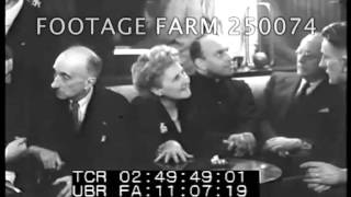 1946, France:  Spanish Government in Exile Meetings In France 250074-07