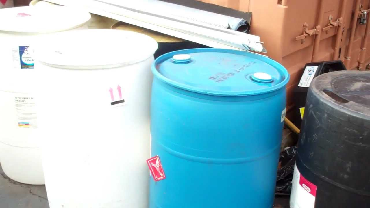 plastic 55 gallon barrels for sale 20 each Craigslist GC Tire